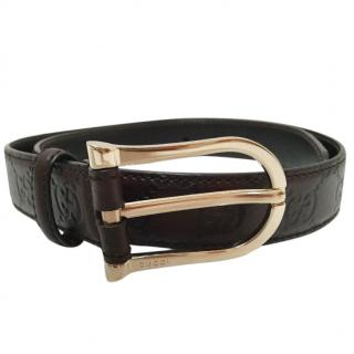Gucci ladies GG signature belt