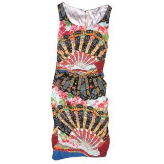 Dolce Gabbana printed silk majolica dress