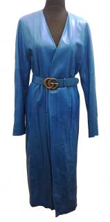 GUCCI Leather Coat with Belt