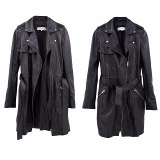 Gerard Darel Black Lambs Leather Coat