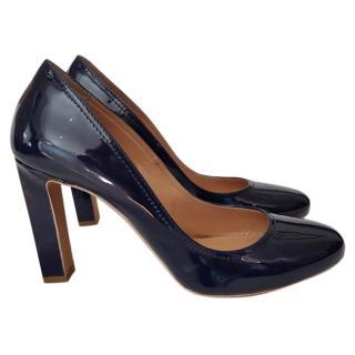 Paul Smith navy Patent heels