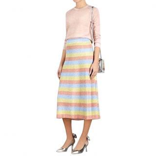 Moschino Boutique Midi Lurex Skirt
