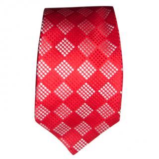 Turnbull & Asser red & white  tie