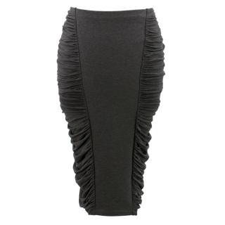 Donna Karan charcoal Ruched pencil skirt