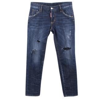 Dsquared2 dark denim ripped jeans