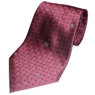 Burberry burgundy tie