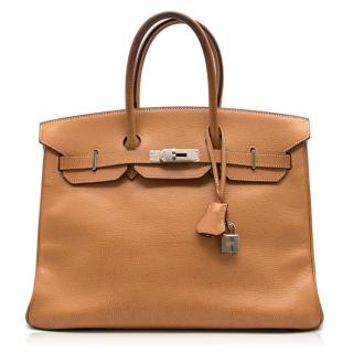 Hermes Caramel Epsom Leather 35CM Birkin Bag