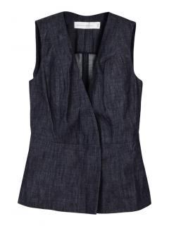 Victoria Beckham Jeans wrap shell raw Japan sleeveless top