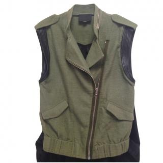 Alexander Wang Sleeveless Biker Jacket