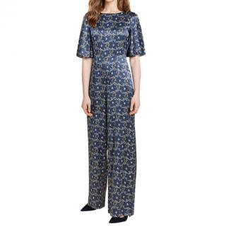 Beulah printed silk jumpsuit
