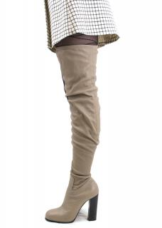 Celine thigh high beige rider boots