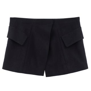 Donna Karan wool & cashmere black mini skirt