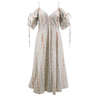 Petersyn floral pleated puffed sleeve dress