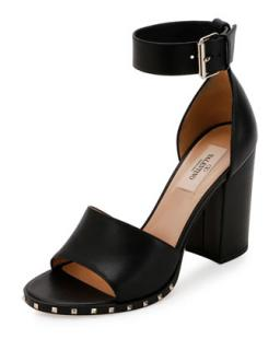 Valentino 'Soul Rockstud' Block Heeled Sandals