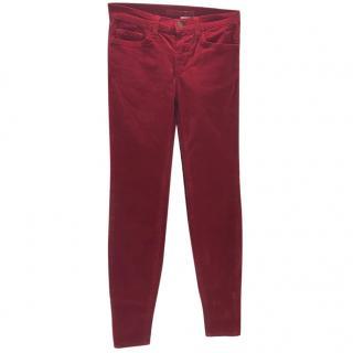 J Brand Red Corduroy Jeans