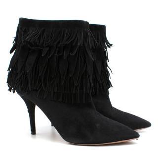 Aquazzura 'Sasha' suede fringed ankle boots