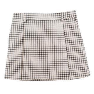 Paul & Joe wool checked skirt