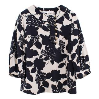 Phillip Lim black and white silk blouse