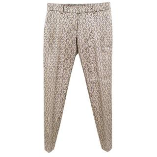 Paul & Joe silk blend printed trousers