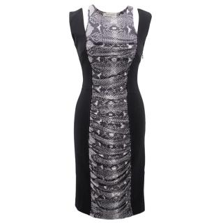 Pierre Balmain black snake skin print dress