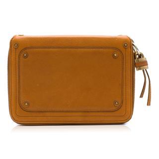 Chloe brown leather travel wallet