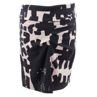 Isabel Marant monochrome printed skirt