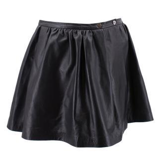 Les Tanneurs Leather Mini Skirt