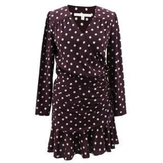 Veronica Beard dot print silk flared dress
