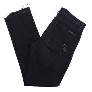 J Brand black skinny ripped jeans