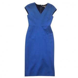 Victoria Beckham blue pencil dress