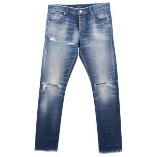 Earnest Sewn light blue washed ripped jeans