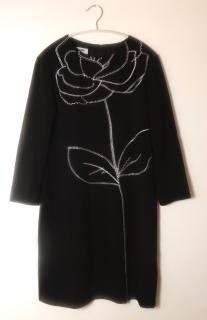 Moschino cheap and chic black embroidered dress
