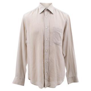 Addison beige linen shirt