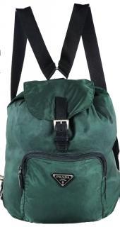 Prada milano backpack rucksack in forest green.