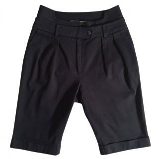Preen by Thornton Bregazzi Black Bermuda Shorts