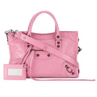 Balenciaga texured leather city bag