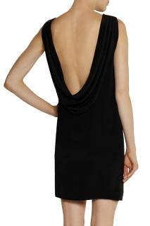 Saint Laurent backless draped mini dress