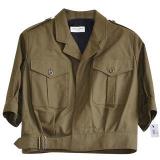 Saint Laurent khaki runway jacket