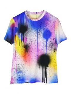 Christopher Kane spray-paint multicolour stretch T-shirt