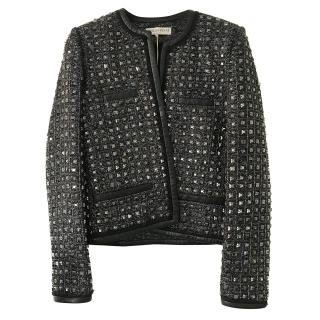 Emilio Pucci Tweed Jewelled Jacket