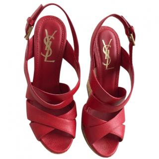 YSL Wedge sandals