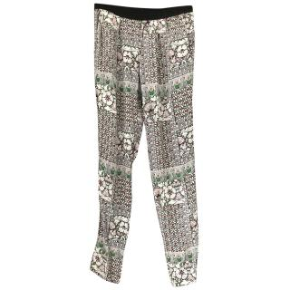 Maje Printed Trousers