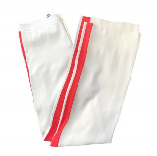 MSGM White and Red Trousers