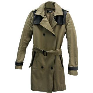 The Kooples Khaki Trench Coat