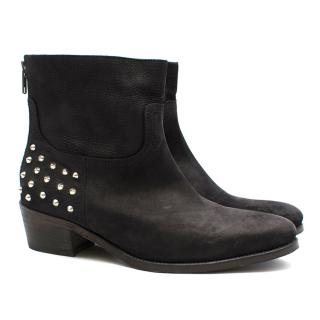 Zadig & Voltaire black studded boots