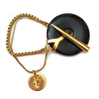 Yves Saint Laurent onyx bracelet
