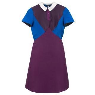 Ostwald Helgason Short Sleeve Geometric Polo Dress