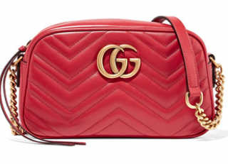 Gucci Red Marmont Camera Bag