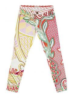 Mary Katrantzou abstract multicolour jeans
