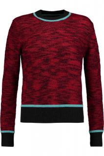 Jonathan Saunders Red Eve Wool-trimmed Knitted Jumper